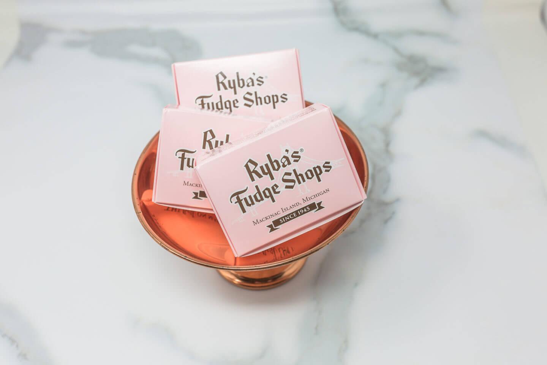 Ryba's Fudge Shops Mackinac Island Fudge Packaging