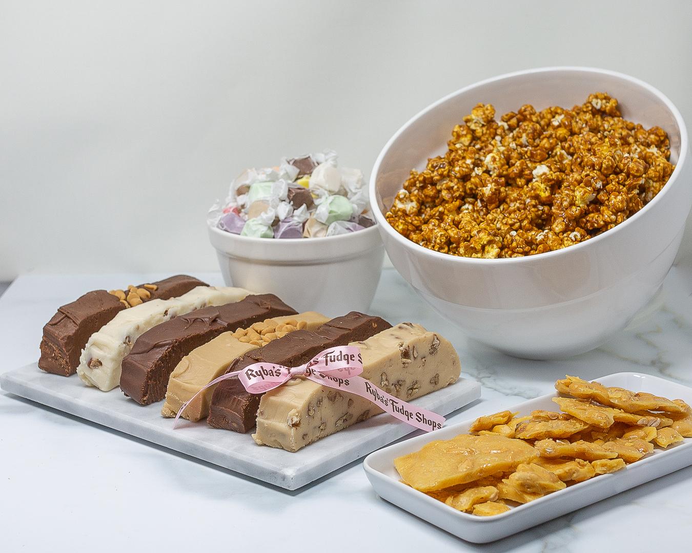 Ryba's Fudge Shops Mackinac Island Fudge, caramel corn, taffy, brittle